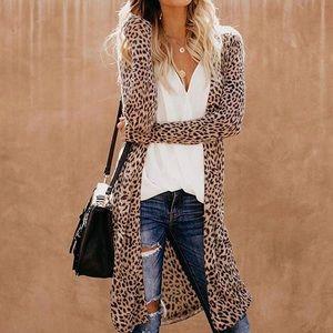 Women's Leopard Print Cardigan